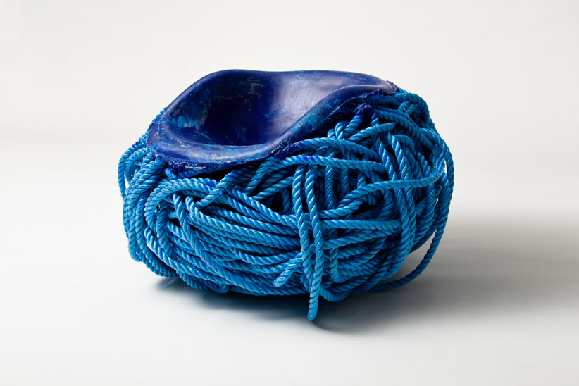 Meltdown Chair: PP Blue Rope