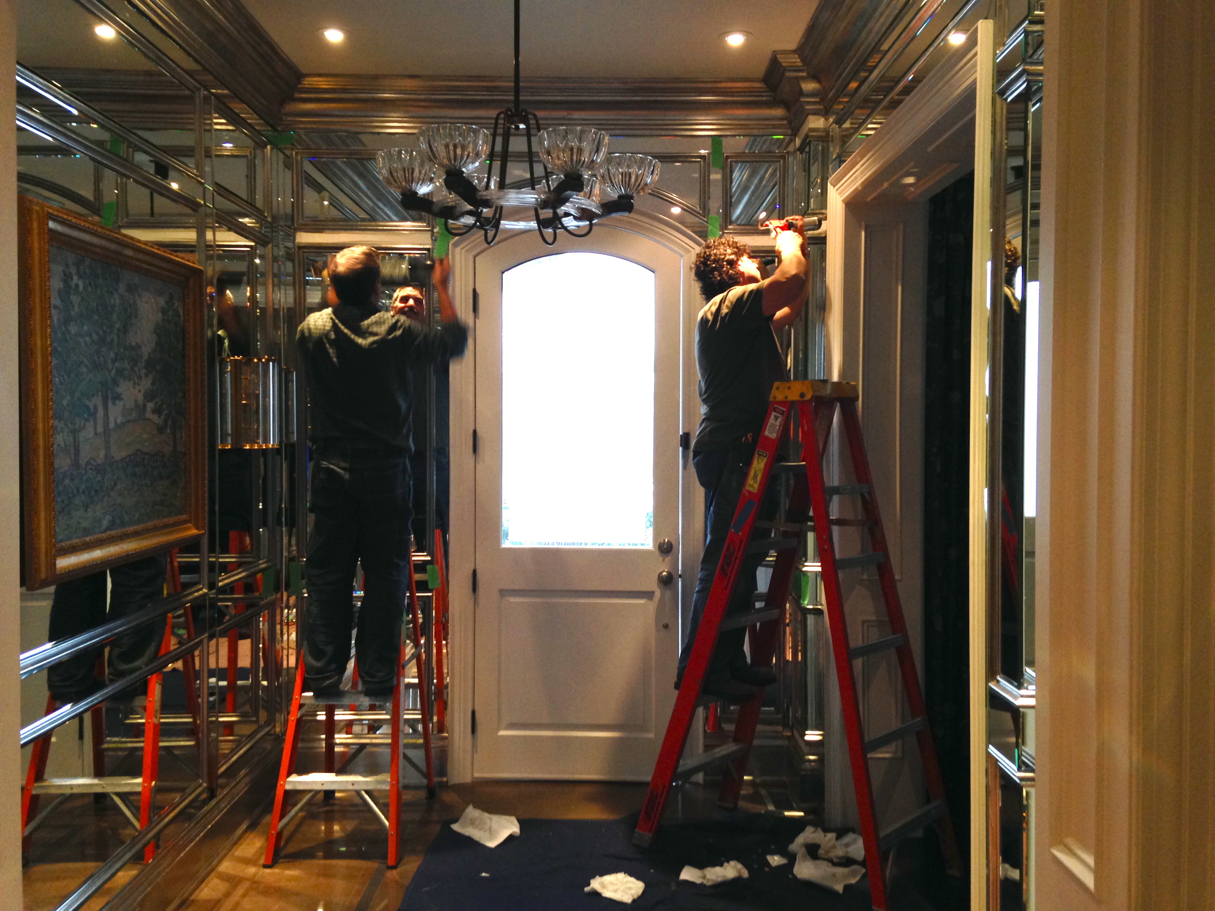 In process - installing the final mirrors.