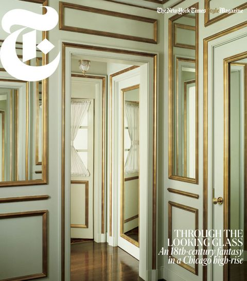 The  New York Times Style Magazine  featured a Chicago high-rise featuring gilding and mirrors.