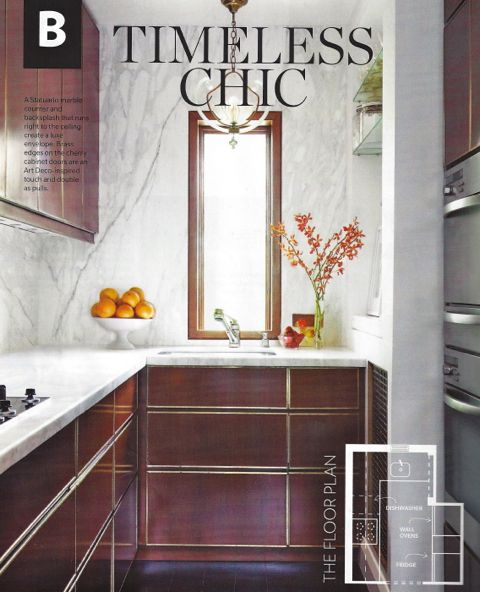 Our kitchen was featured in the March 2014 issue of  House & Home.