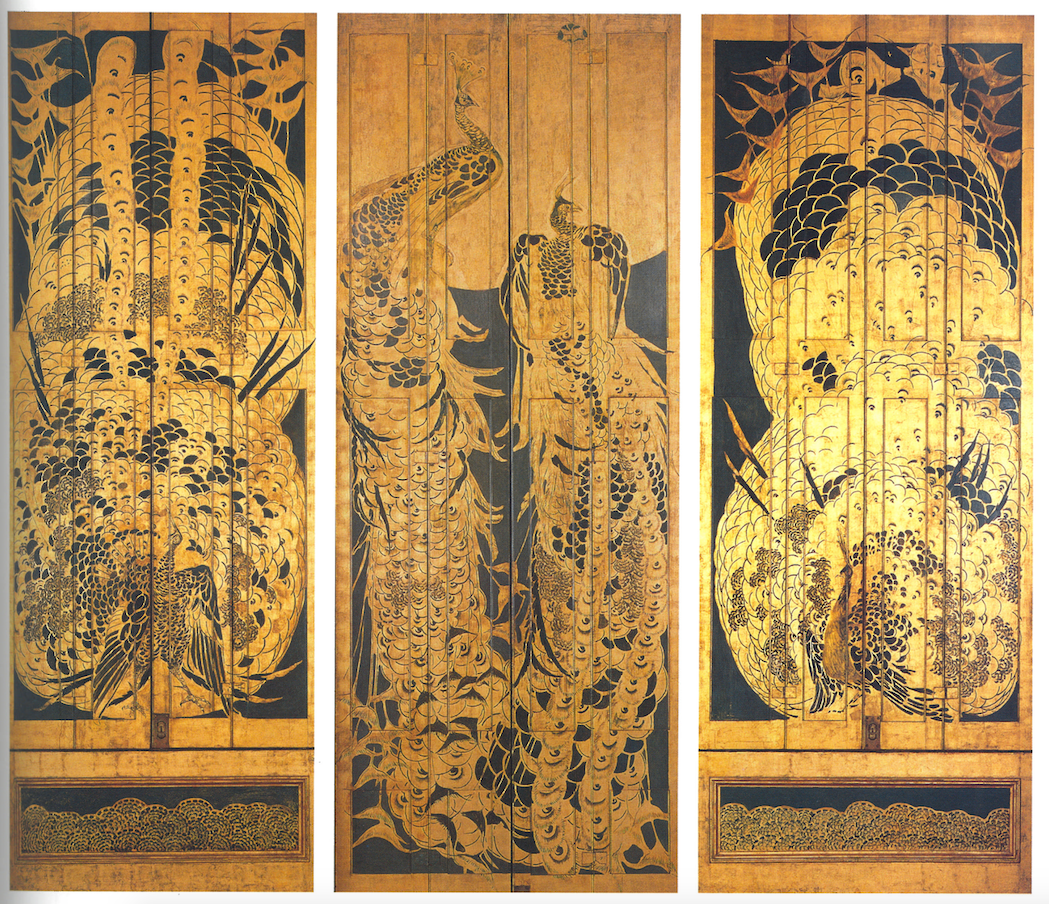 These are detail shots of the shutters in the Peacock Room, 1876-77 by James McNeill Whistler. I love the combinations of the pattern and colour!