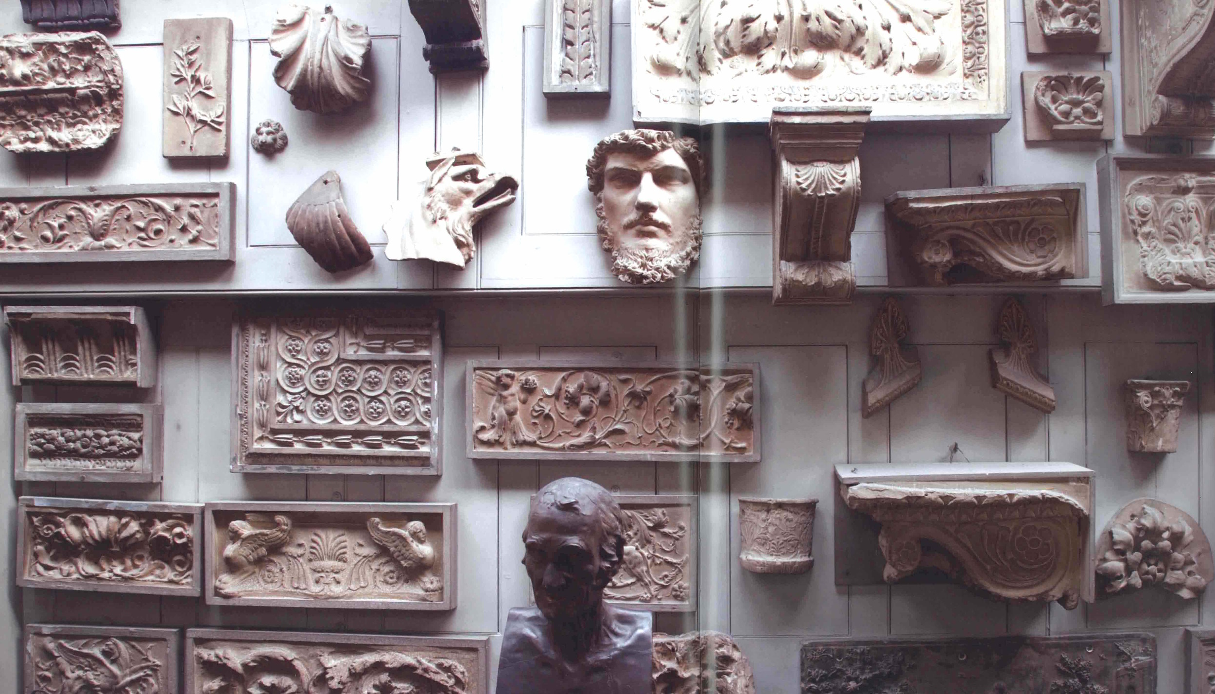 The Students' Room looking north, showing the extensive collection of casts of Classical architectural ornament.( Sir John Soane's Museum, London, By Tim Knox, 2008)