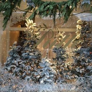Toronto's Putti FIne Furnishings Exuberantly Decadent Christmas Window.
