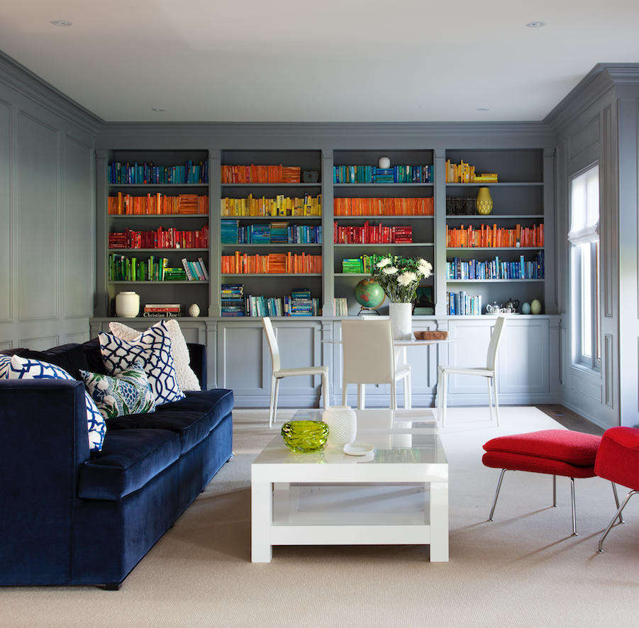 Can you spot the Sonos wireless speakers on this bookcase?