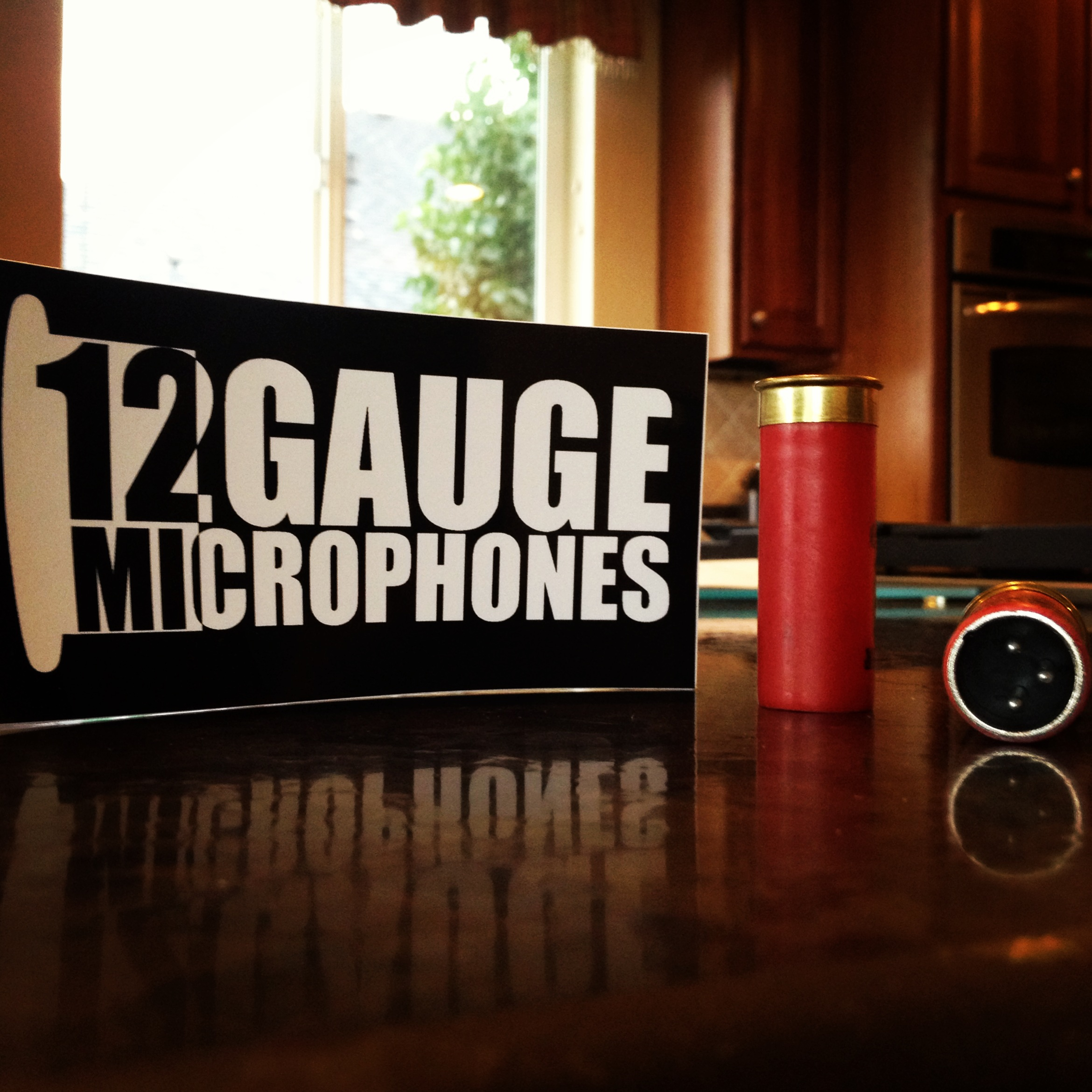 Check out these awesome new mics. The are made out of reclaimed shotgun shells and they sound awesome. Check out 12 Gauge Microphones.  http://www.12gaugemicrophones.com/