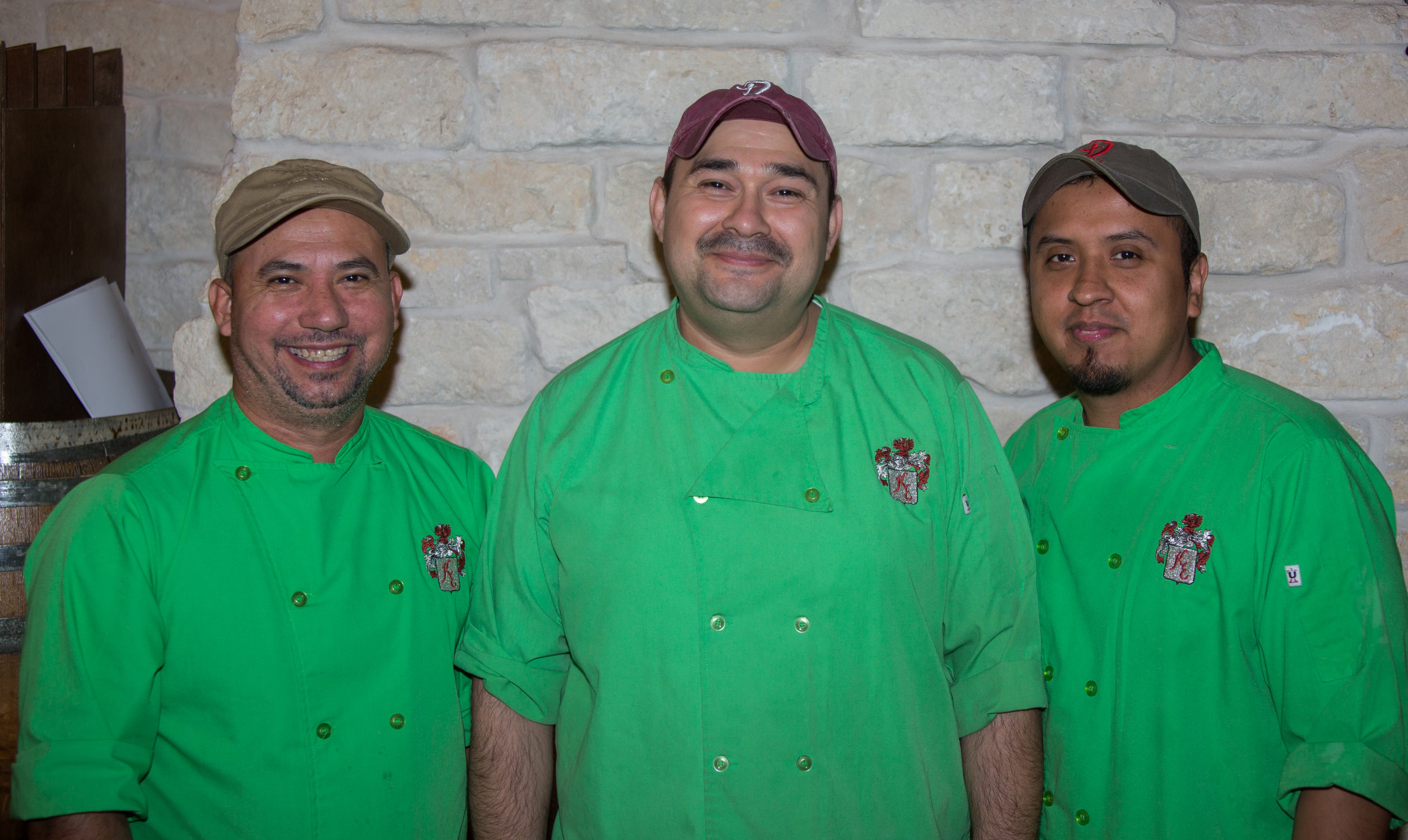 This phenomenal kitchen crew whips up tasty and beautiful plates for you every evening.