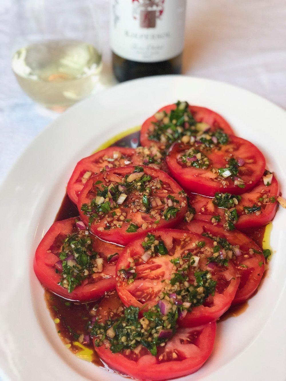 Marinated Jacksonville Tomatoes