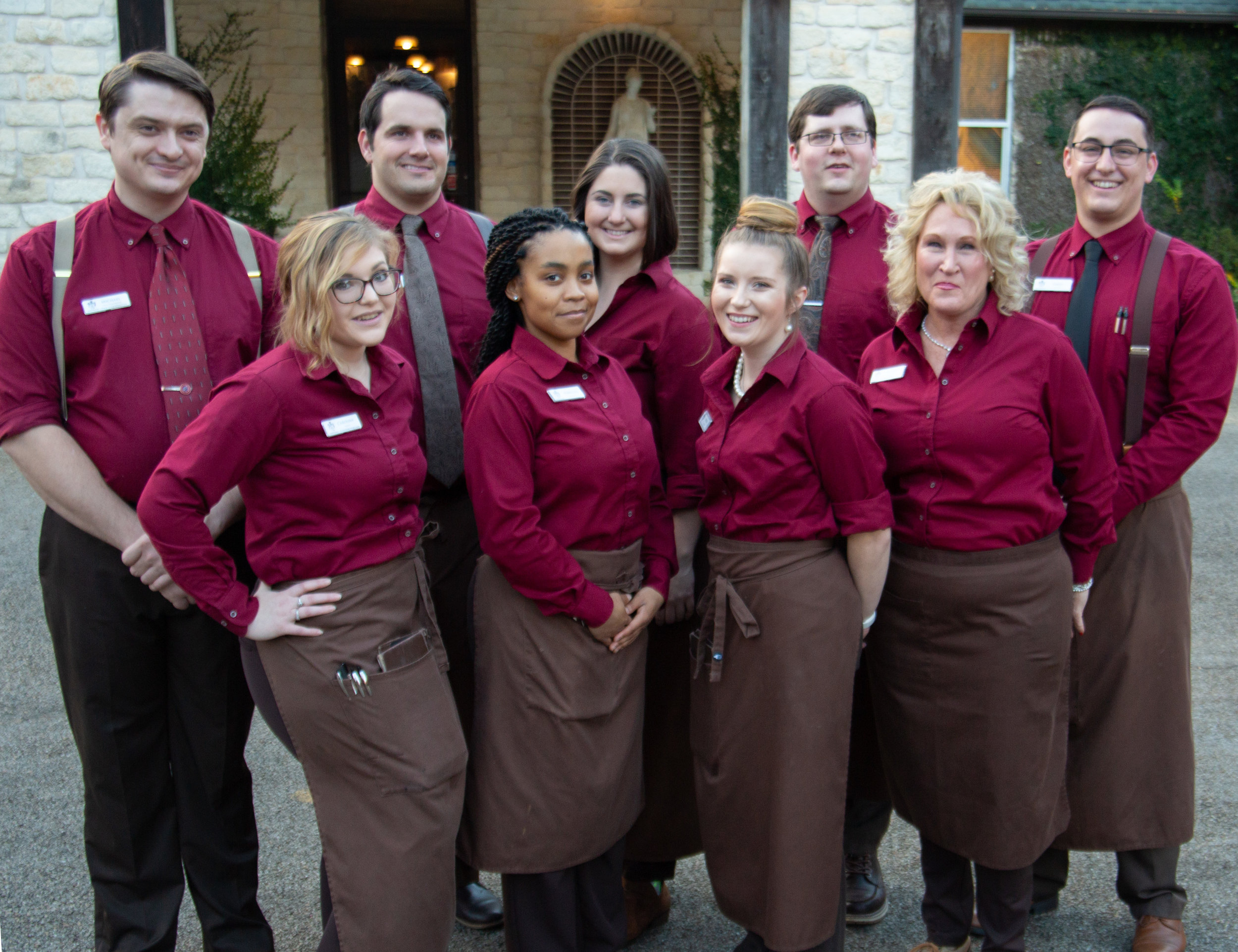The beautiful service staff at the restaurant.