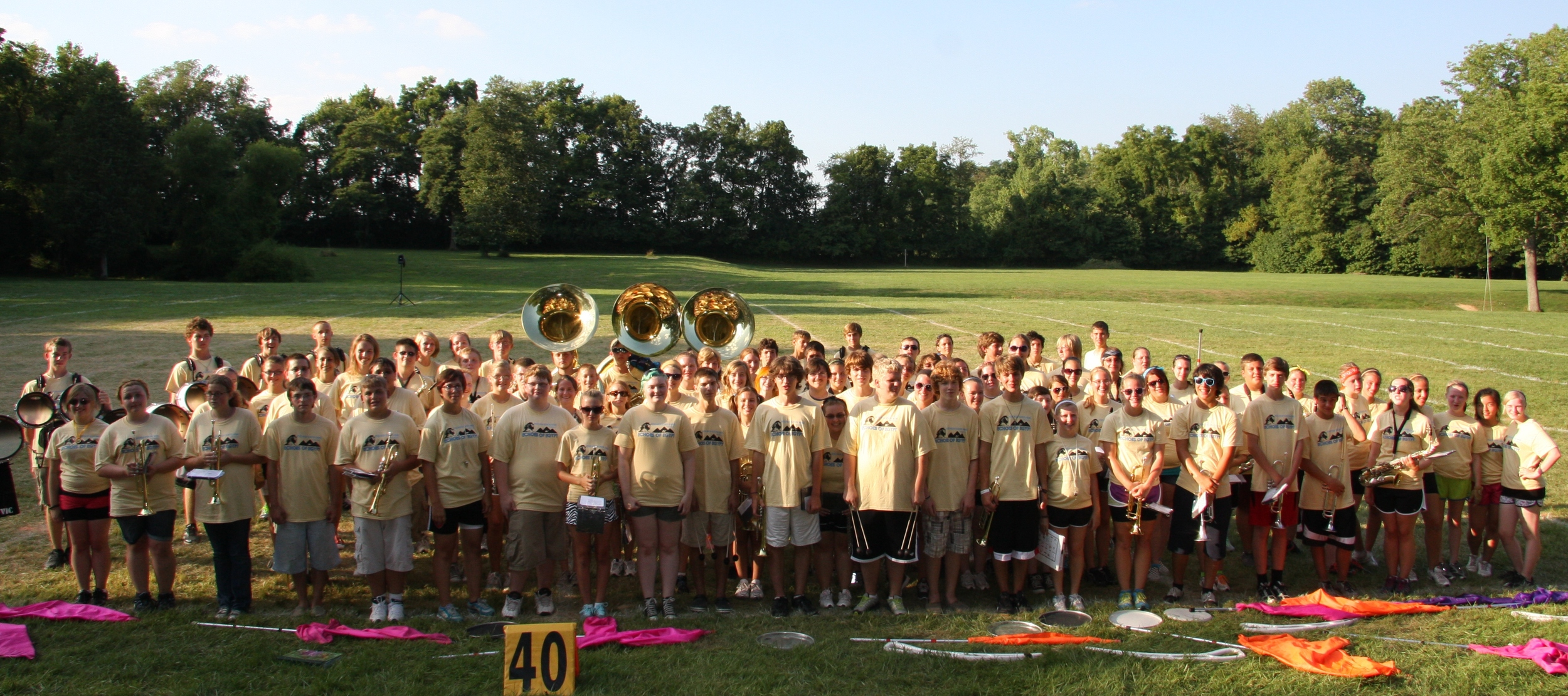 Last Year's (2012) Band Camp Photo    What a Great Group of Students!!