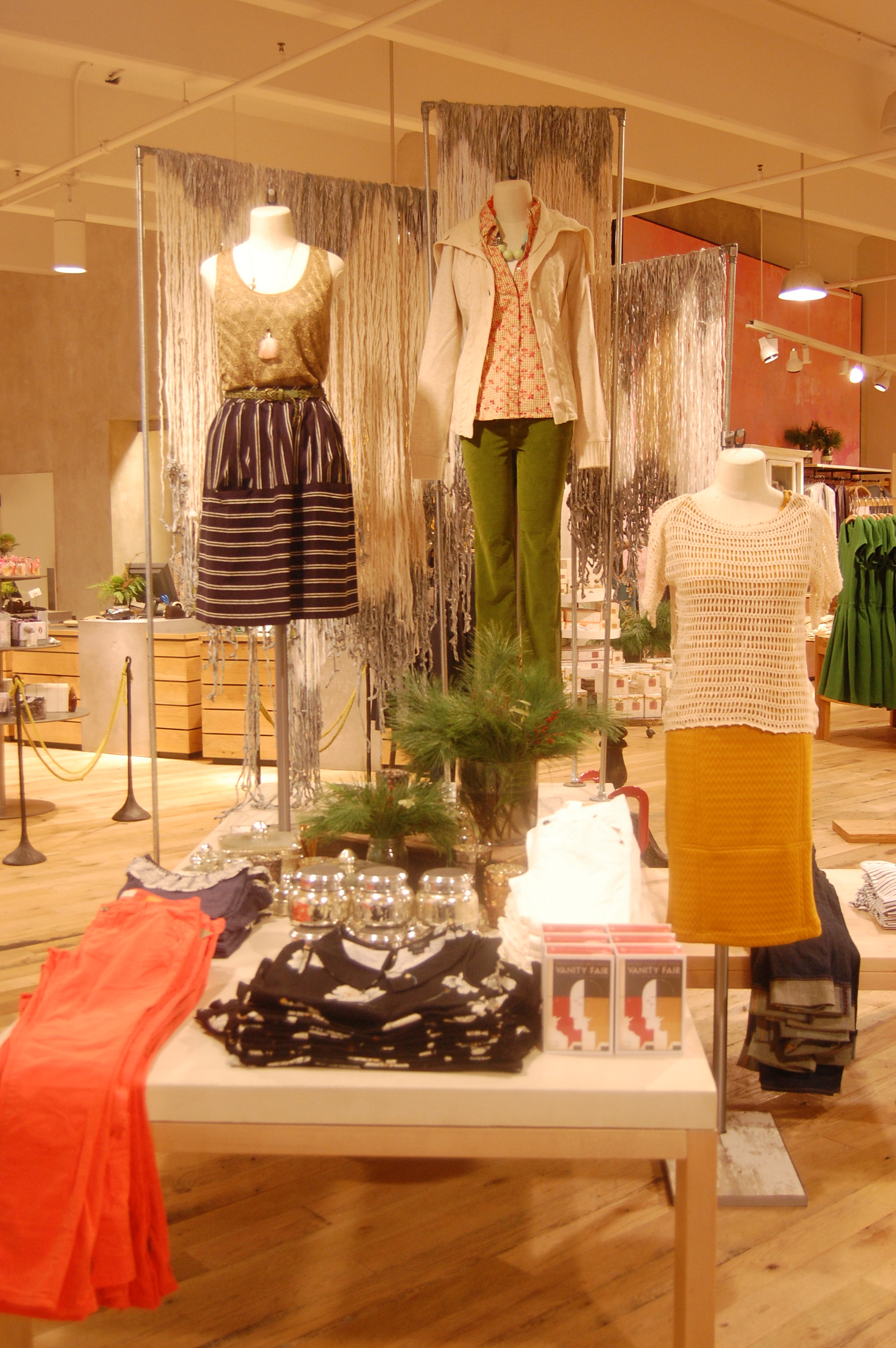 Twisted Cloth Floor Display