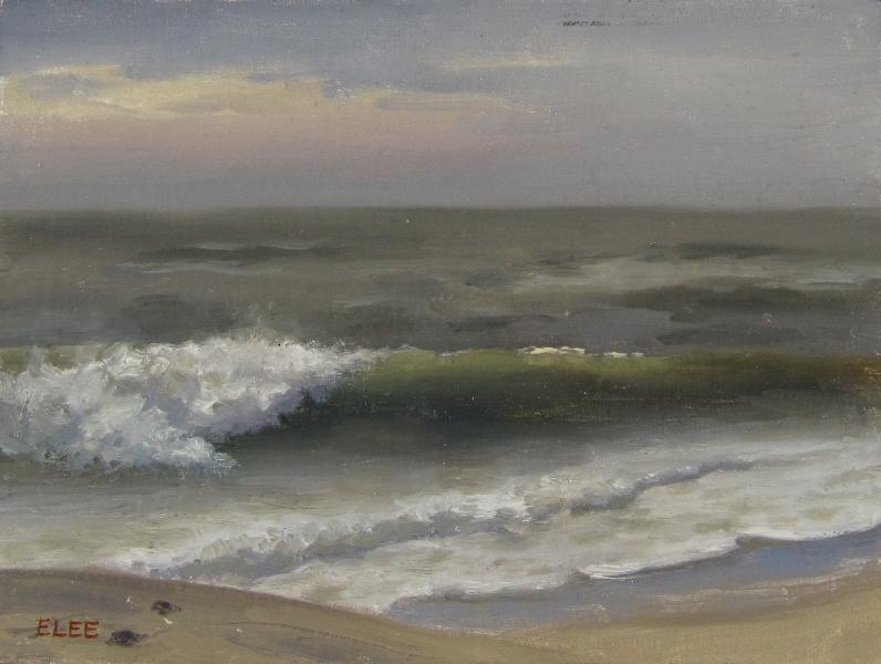 """Waves, Fire Island"",oil,6x8, $400"