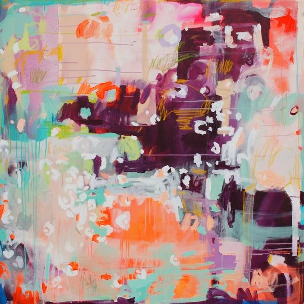 """""""Roller Skates"""", acrylic on canvas, 48x48"""