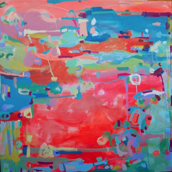 """Point Dexter"", acrylic on canvas, 48x48"