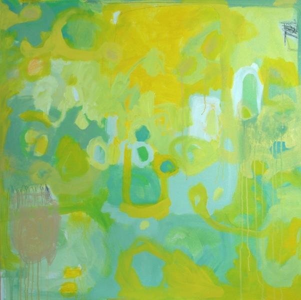 """""""Sphinx"""", acrylic on canvas, 36x36"""