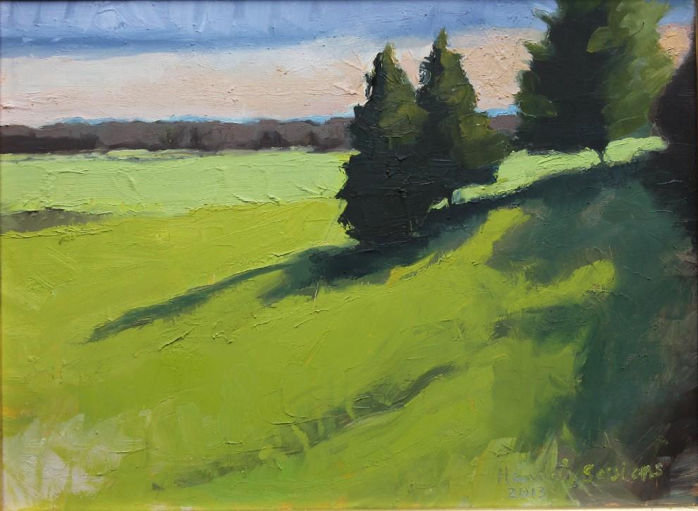 Sessions_Three Trees on Hill, Sunset_oil on panel_9X12_575.jpg