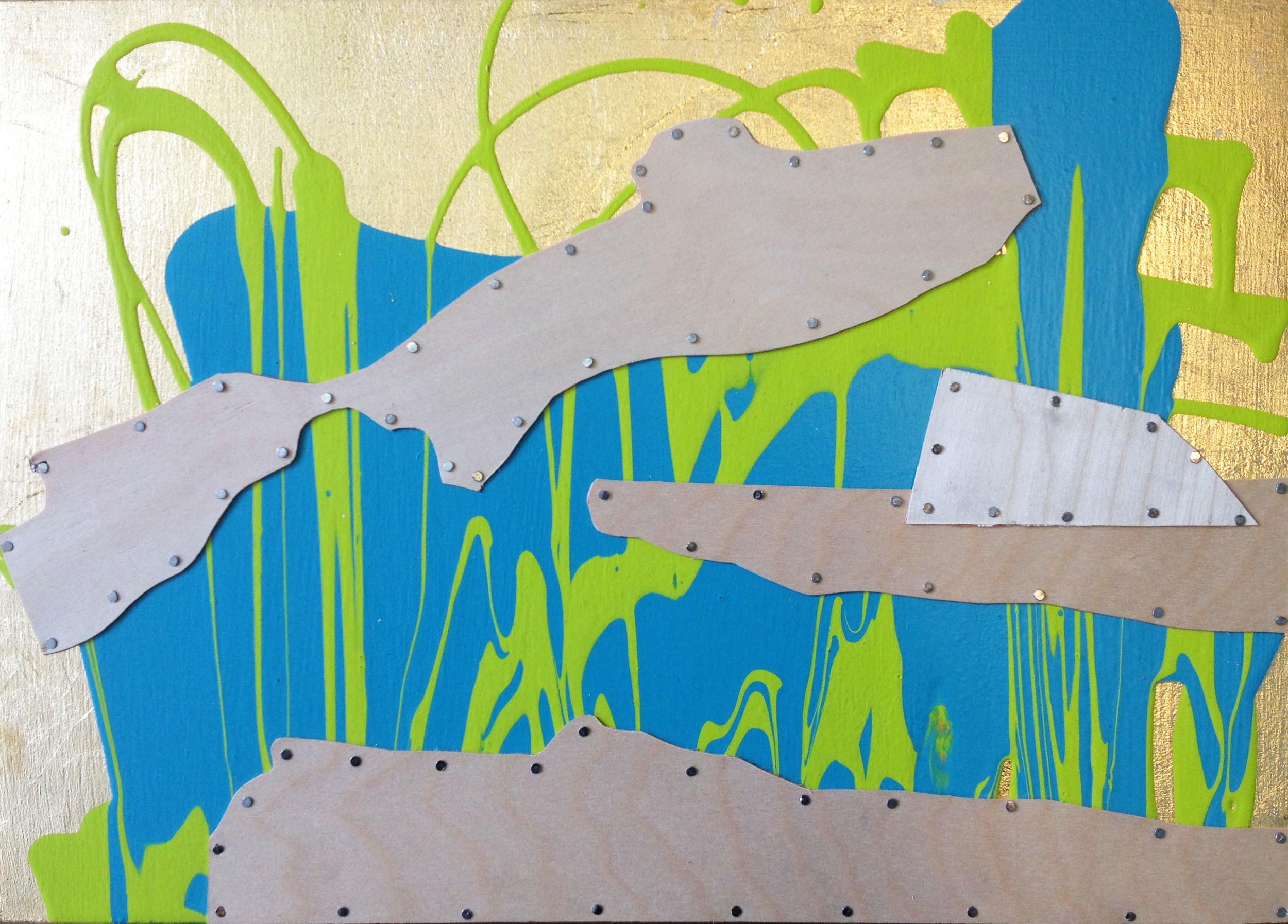 """Summer, Hanauma Bay"", acrylic on panel,46x40"