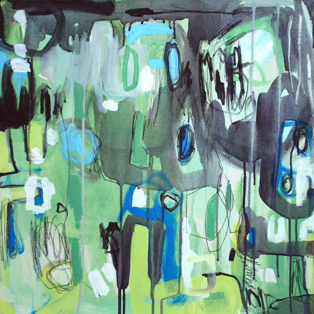 """""""Philo"""", acrylic on canvas,24x24, $700"""