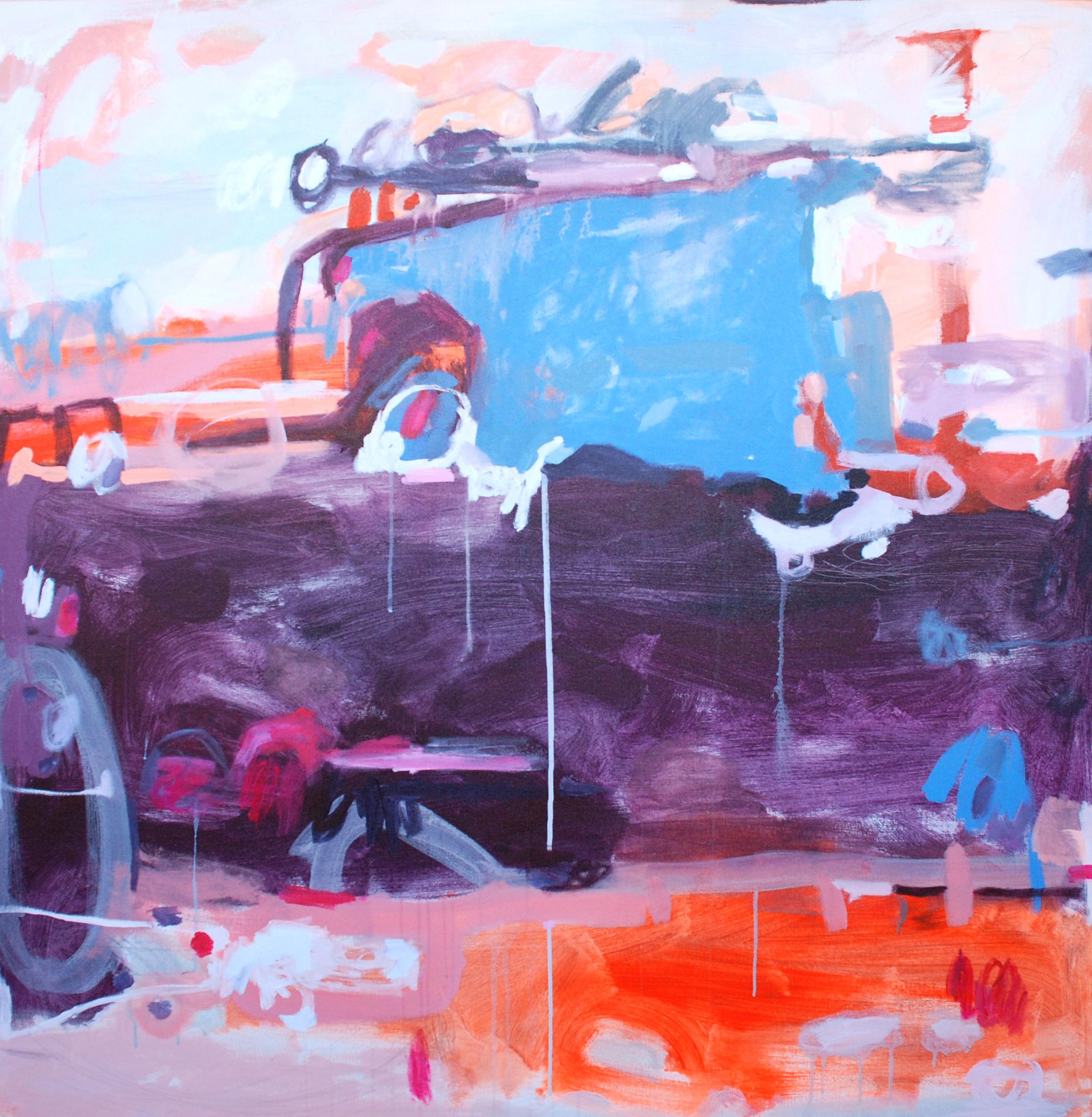 """""""Bailey"""", acrylic on canvas, 48x48, $2,200"""