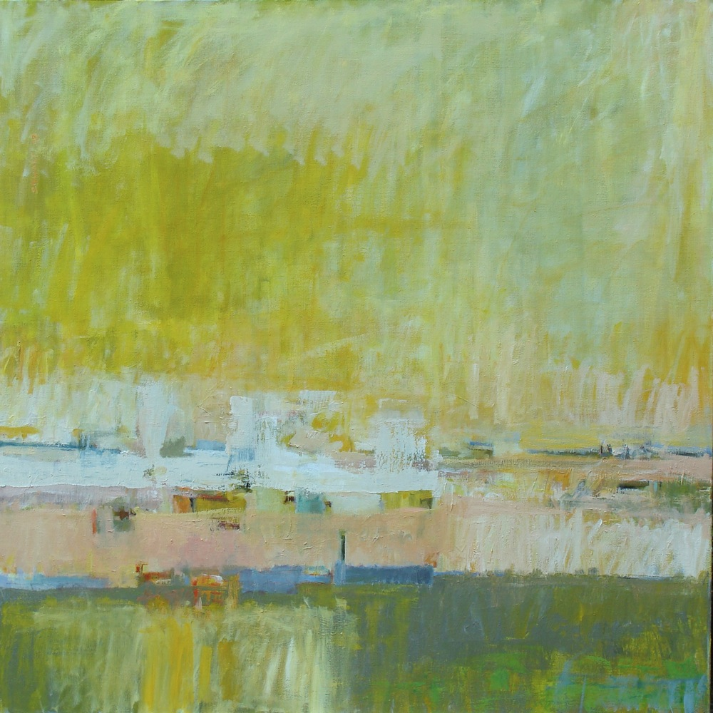 """Inlet, Summer"", oil on linen, 36x36,$5,000"