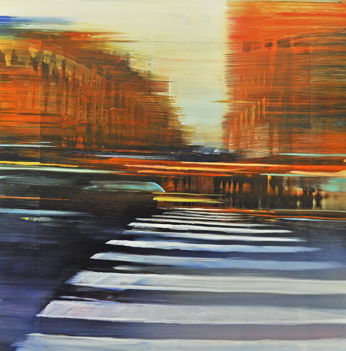 Dunlop_Paris Boulevard Rendezvous_oil on anodized aluminum_24x24.jpg