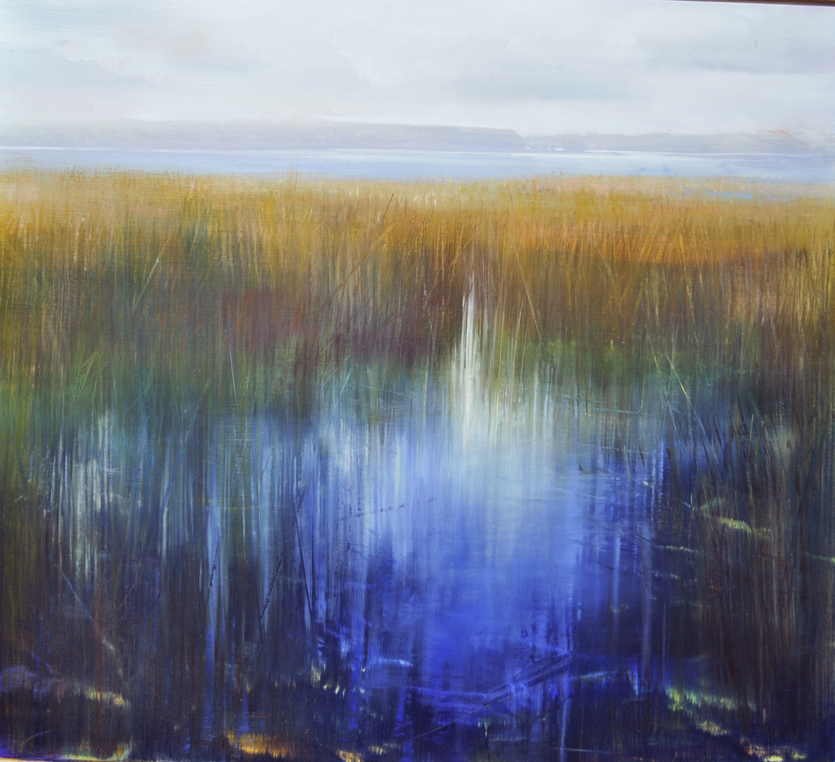 """Shorelines, Bright Horizons"", oil on canvas, 32x36, $6,500"