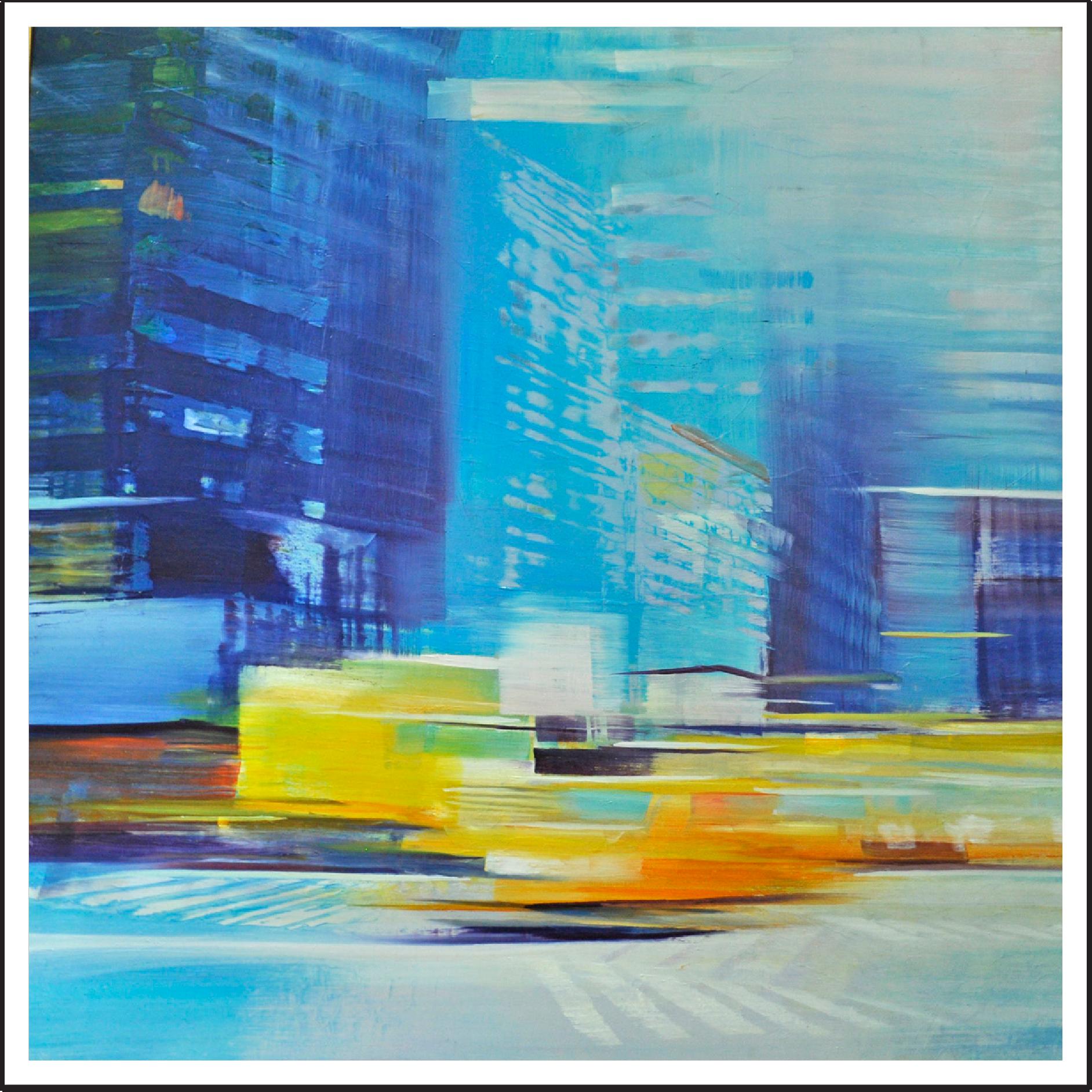 """David Dunlop /  Taxi  / 36"""" x 36"""""""