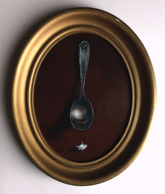 """""""Journey Spoon"""", acrylic on panel, 9x7"""