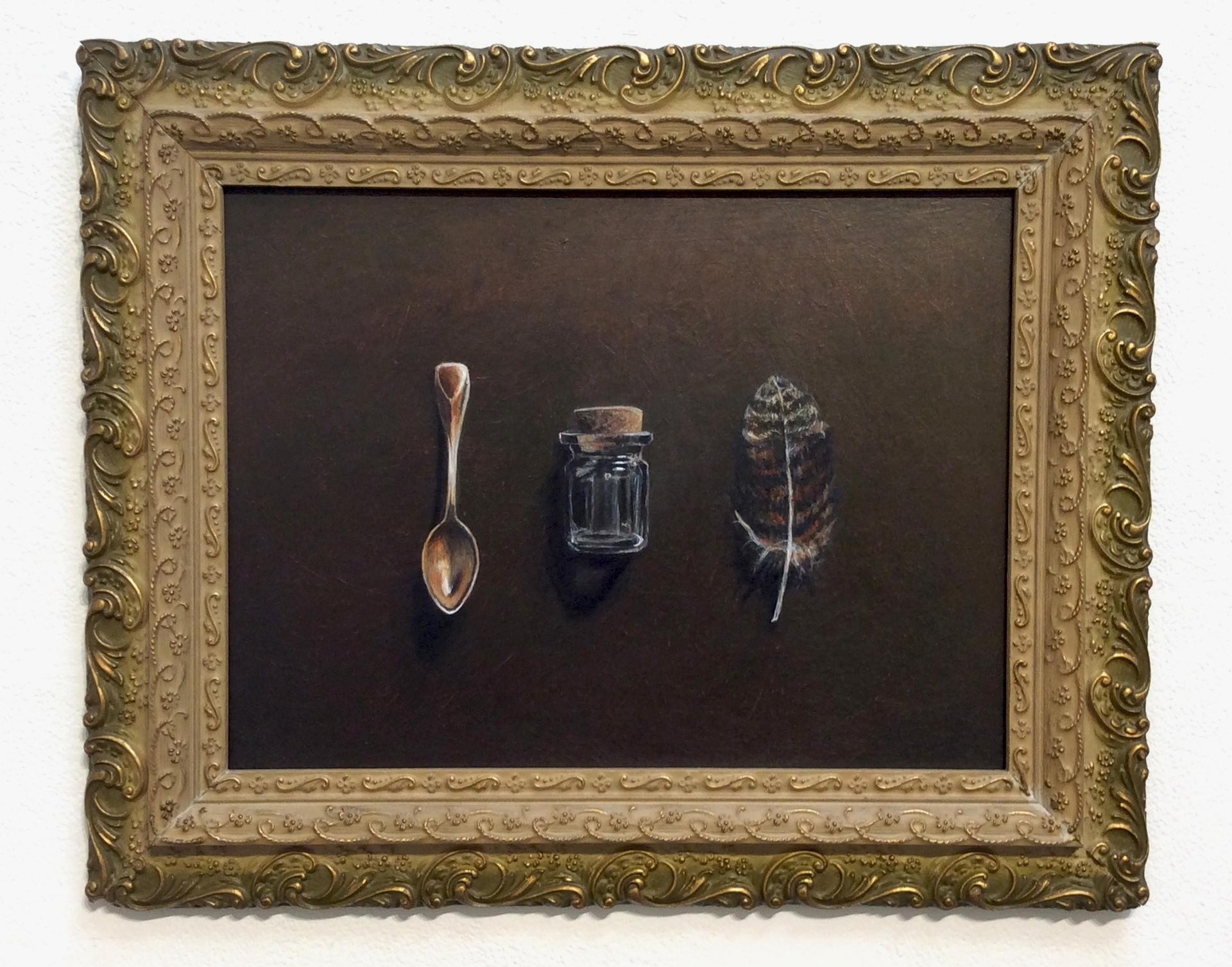"""""""Specimen"""", acrylic on panel,10.5x14"""