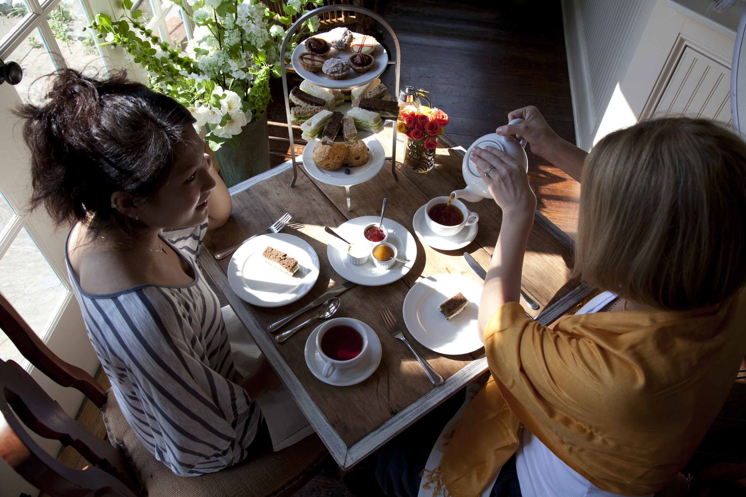 Our Signature Afternoon Tea: Freshly baked scones, clotted cream, artisan jam, an assortment of six finger sandwiches including roasted chicken salad, egg salad, and cucumber with Boursin. To end, you will be presented with a selection of desserts, topped off with a small pot of your favorite tea. Our Signature Afternoon Tea: $26/person. Restaurant Week offer ends November 18th. Coupon valid until December 24th, perfect for your holiday shopping desires!