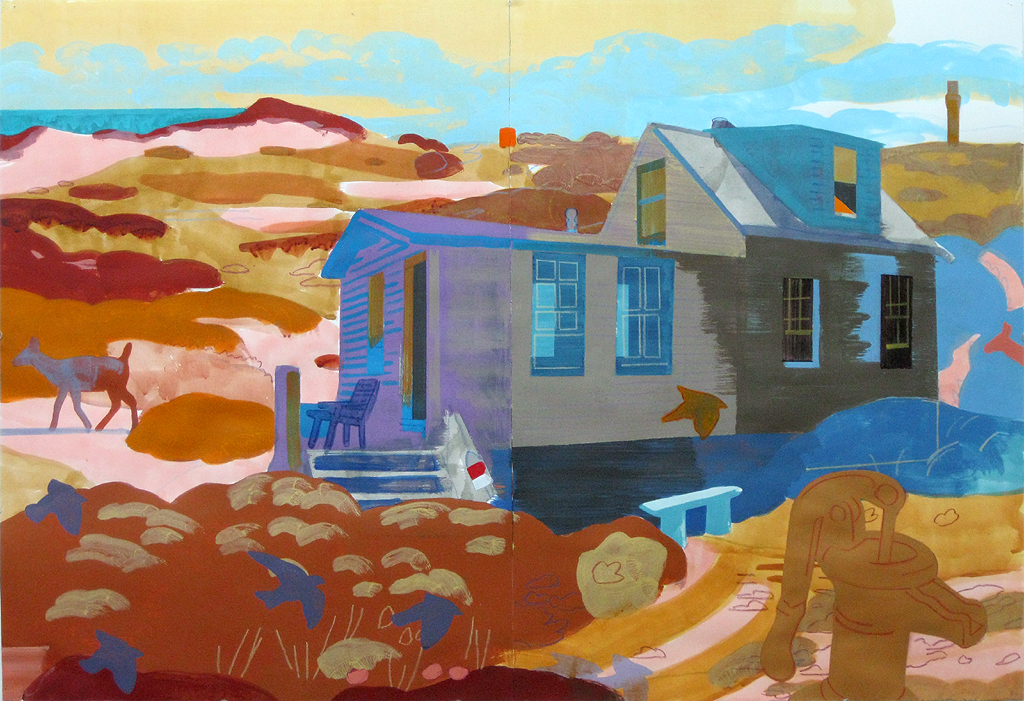 "Justin Kim, ""Dune Shack,Provincetown MA,30 x 44"