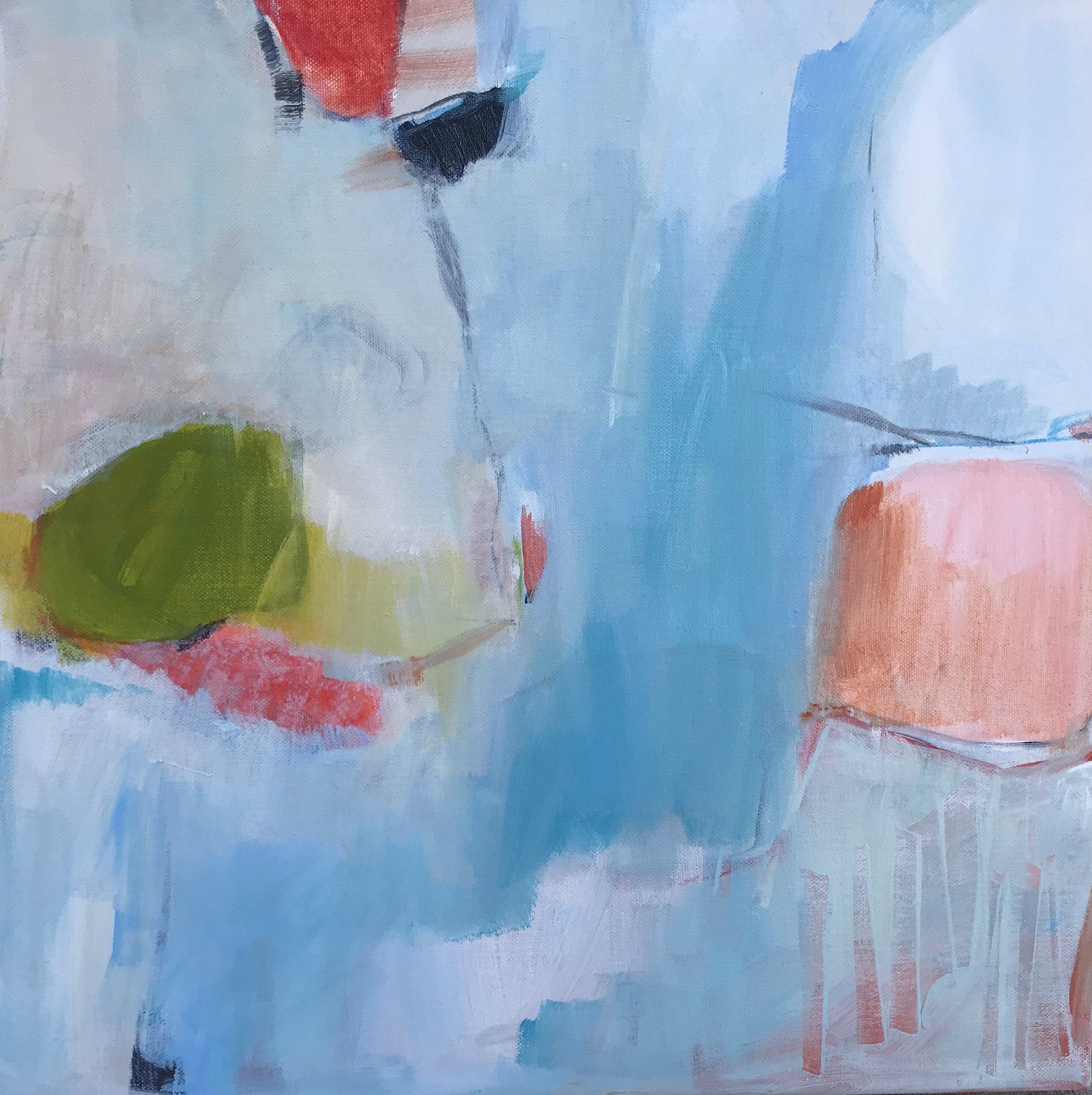 A River Runs Through It, Acrylic on Canvas, 16 x 16