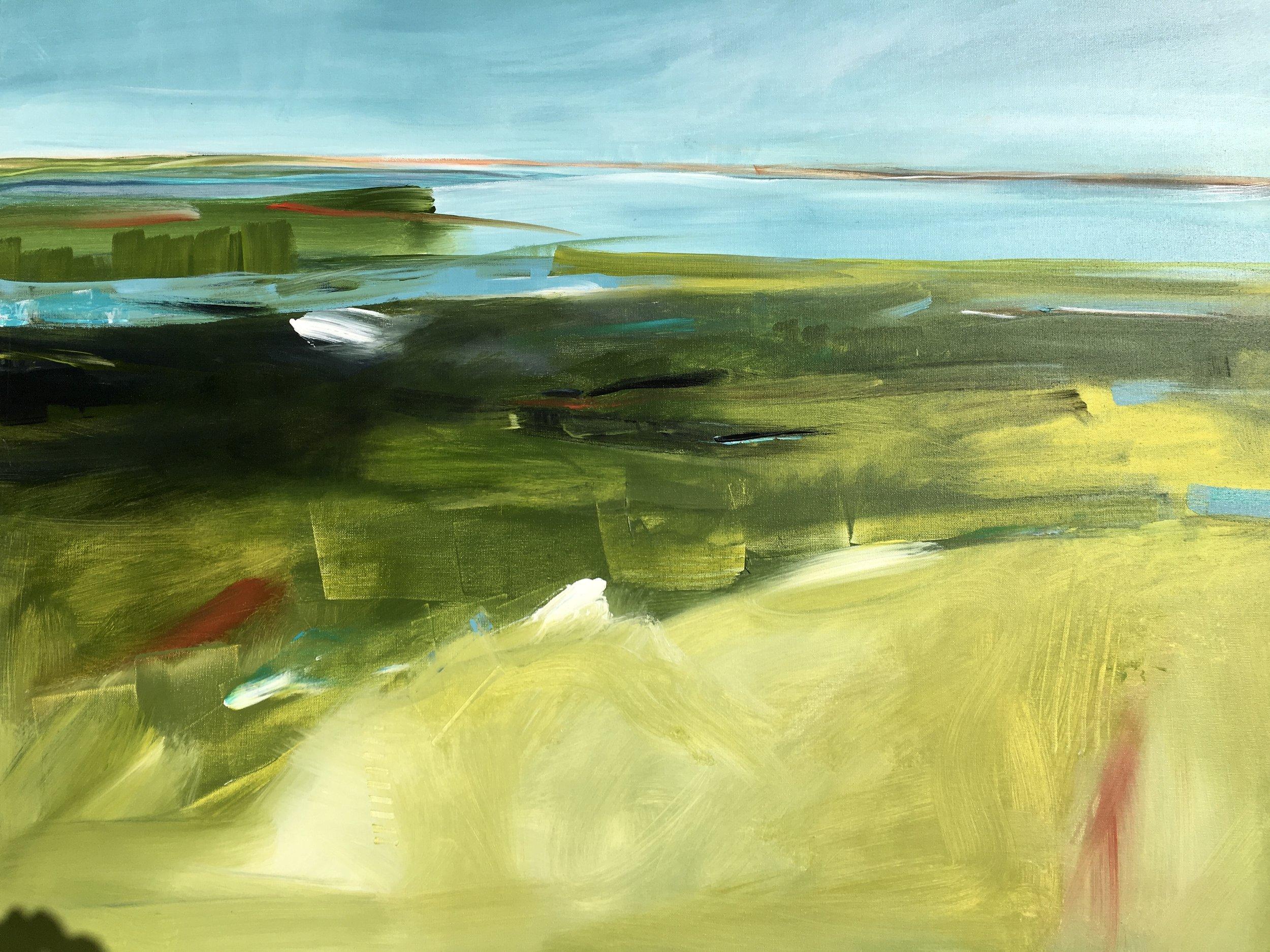 Coastal Rhythm, Acrylic on Canvas, 30 x 40