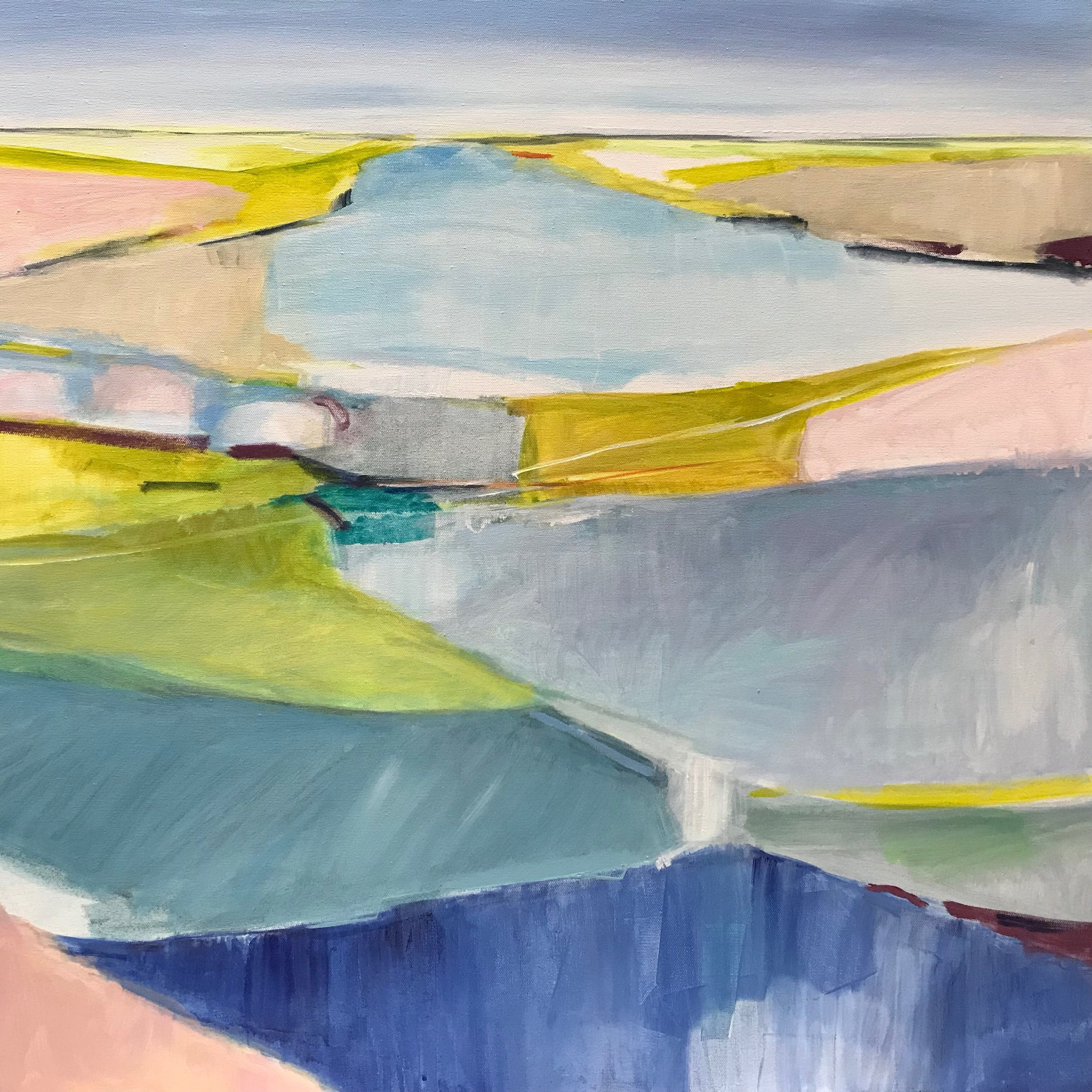 Glisten. Acrylic on Canvas, 30 x 30