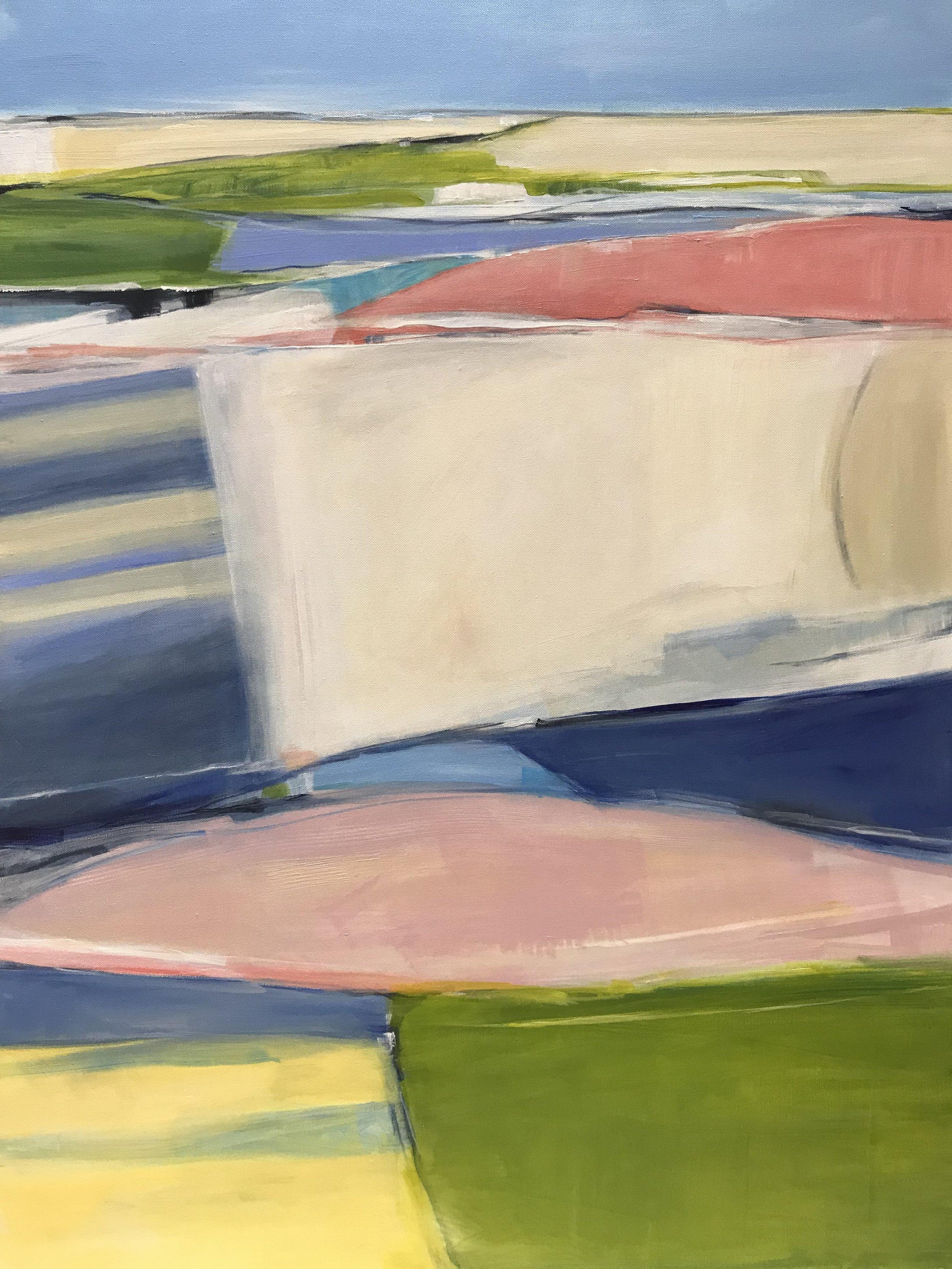 Harborside, Acrylic on Canvas, 40 x 30