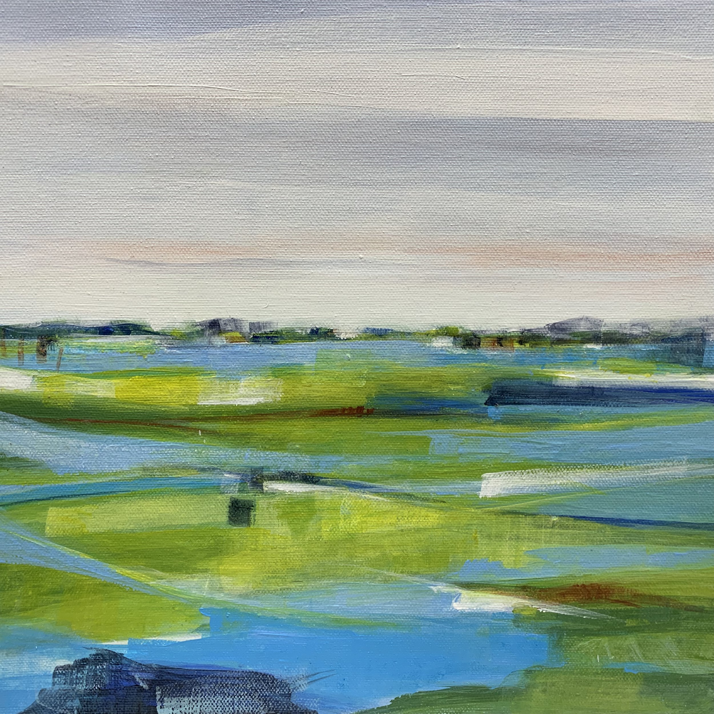 Summer's End, Acrylic on Canvas, 12 x 12