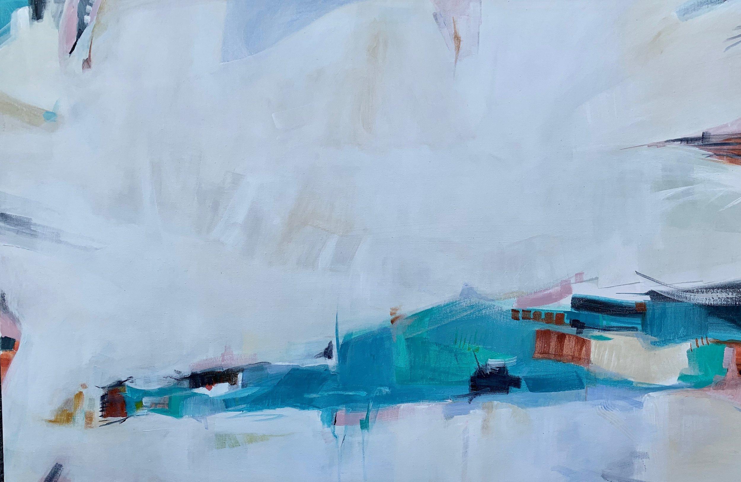 The Fog Lifts, Acrylic on Canvas, 24 x 36