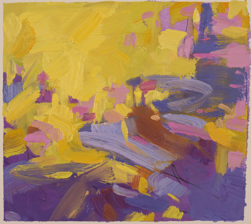 Abundant Possibilities, oil on arches oil paper (matted unframed)