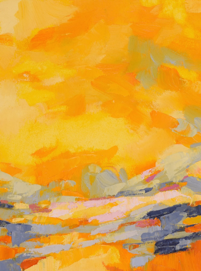 Radiant Journeys, Oil on Arches Oil Paper (matted unframed)