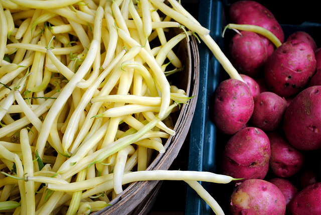 Yellow String Beans and Potatoes  by Katherine Martinelli