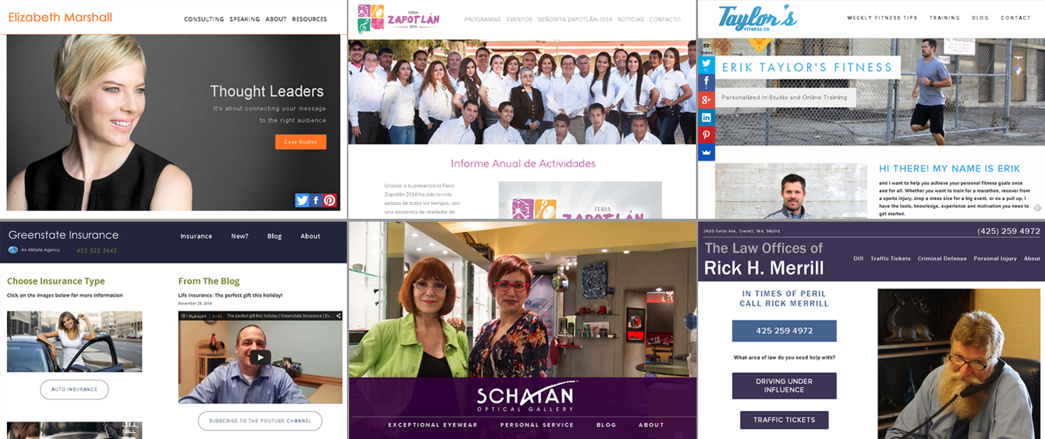 New websites from Simply Friday in 2014
