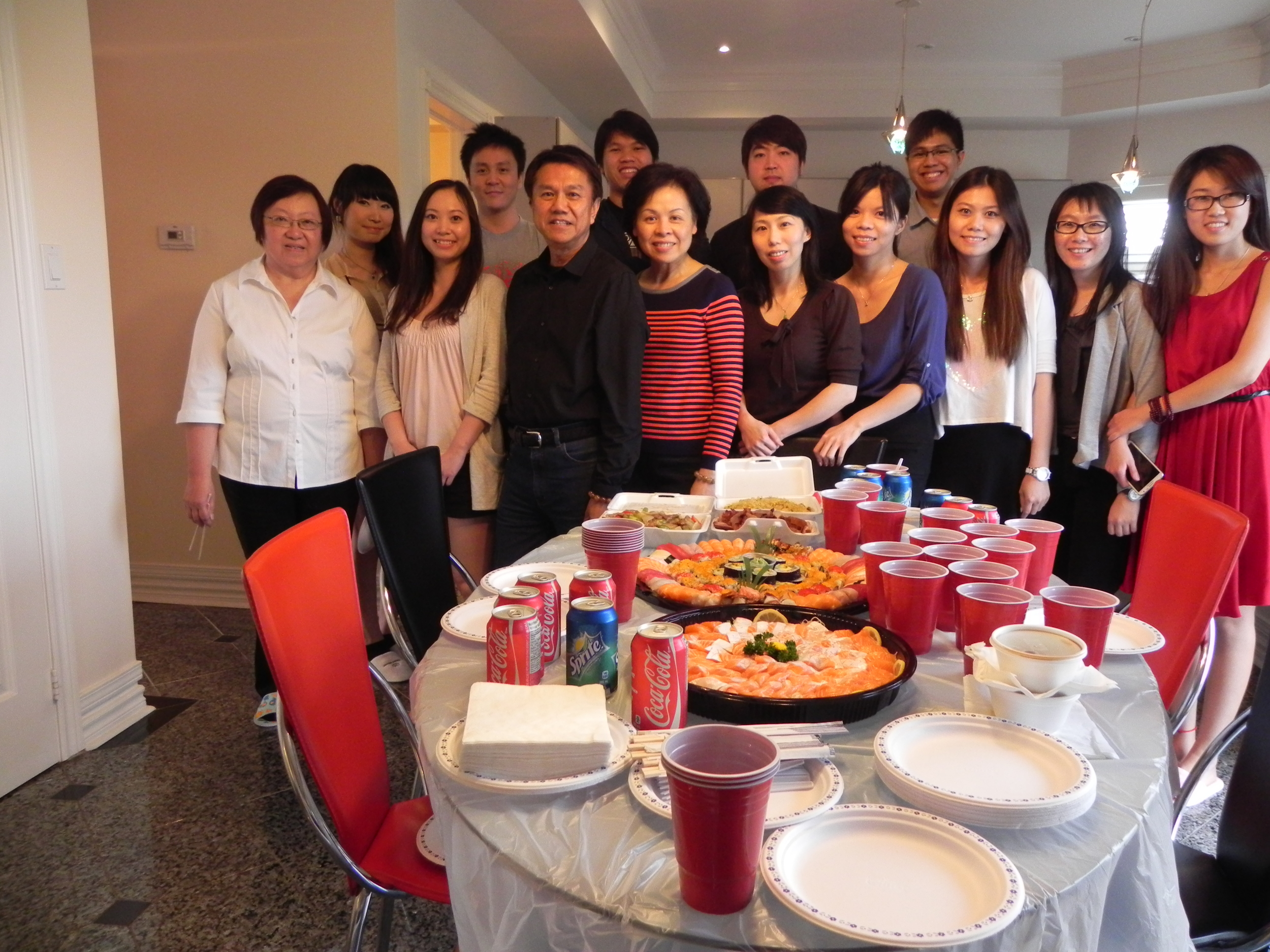 OIBC Staff with the food