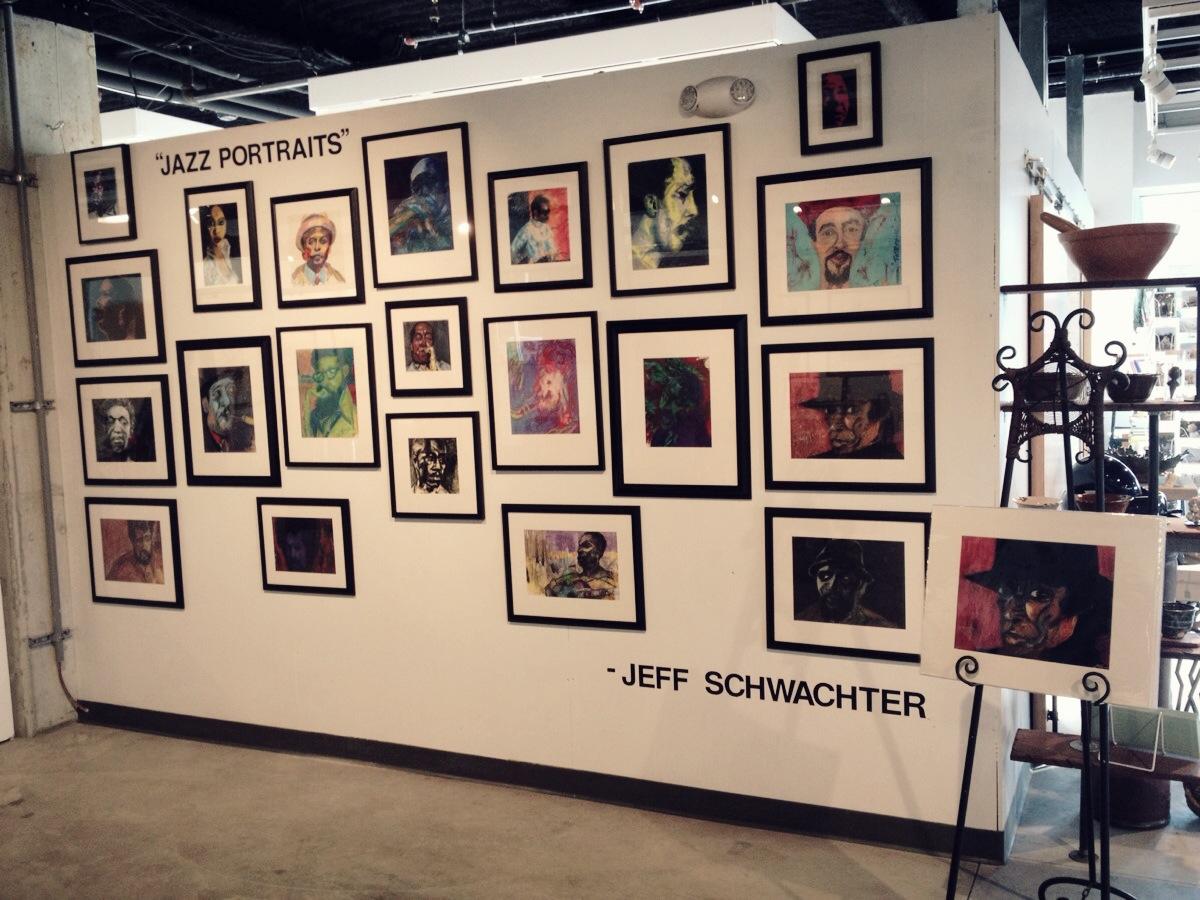 arts garage reception_jazz_portraits_Schwachter 4.JPG