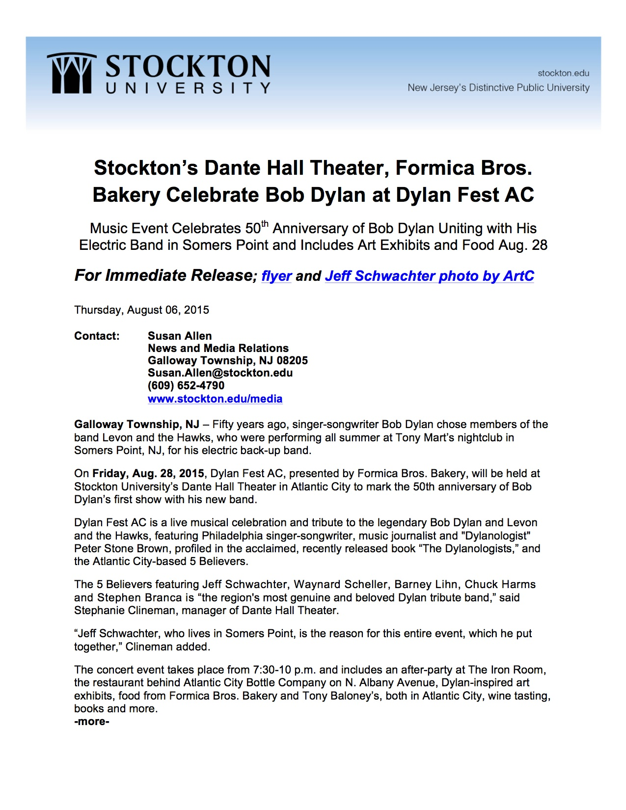 dylan_fest_ac_stockton_press_release