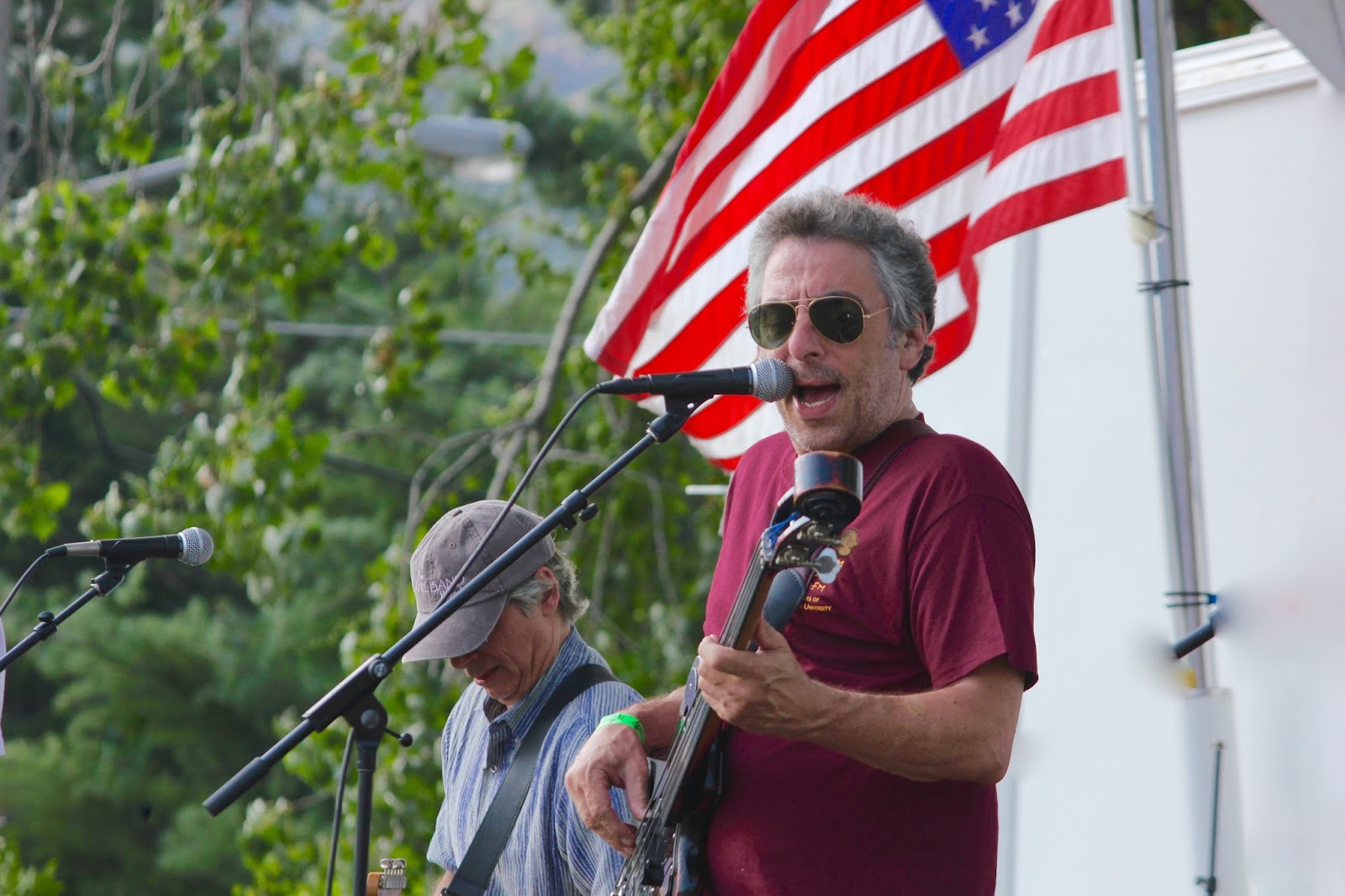 - Gary Solomon of The THE BAND at the American Roots Music Festival (Sept. 7, 2015) Photo: Thunderbird Ranch Ramble