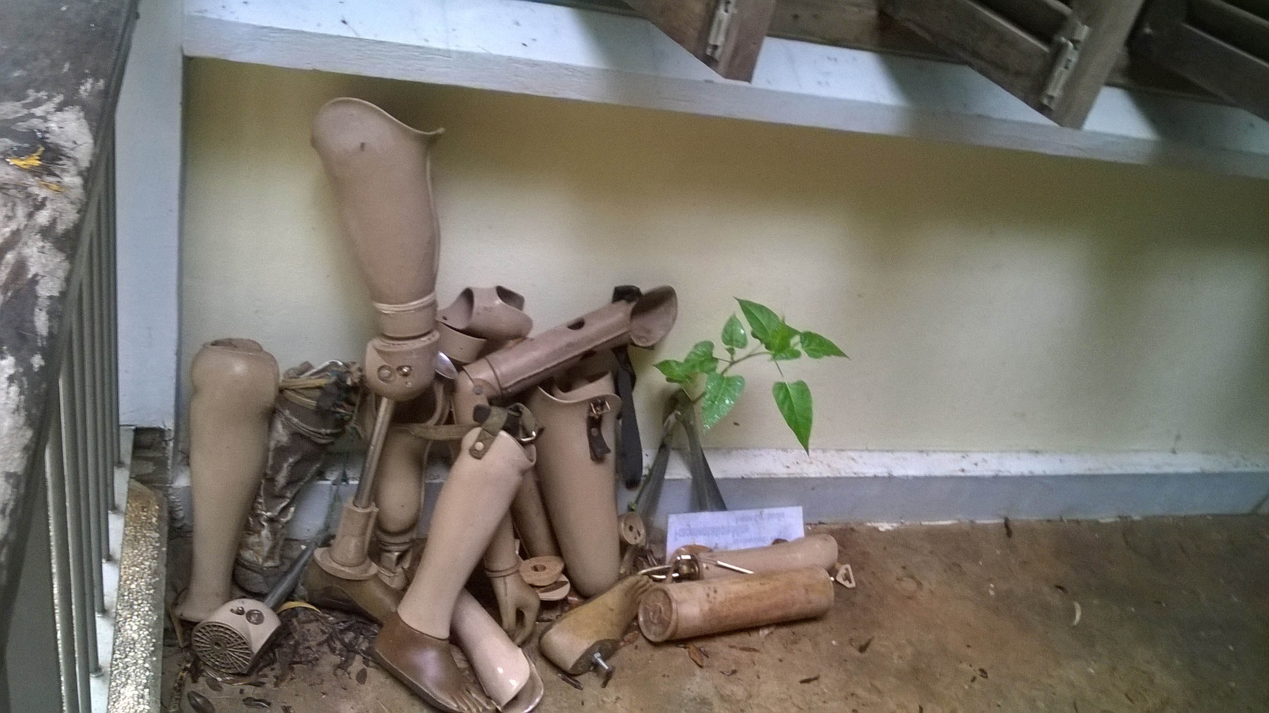 Prosthetic legs and feet at the Cambodian Landmine Museum outside Siem Reap.
