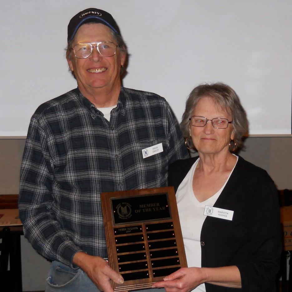 Marietta receiving Member of Year award
