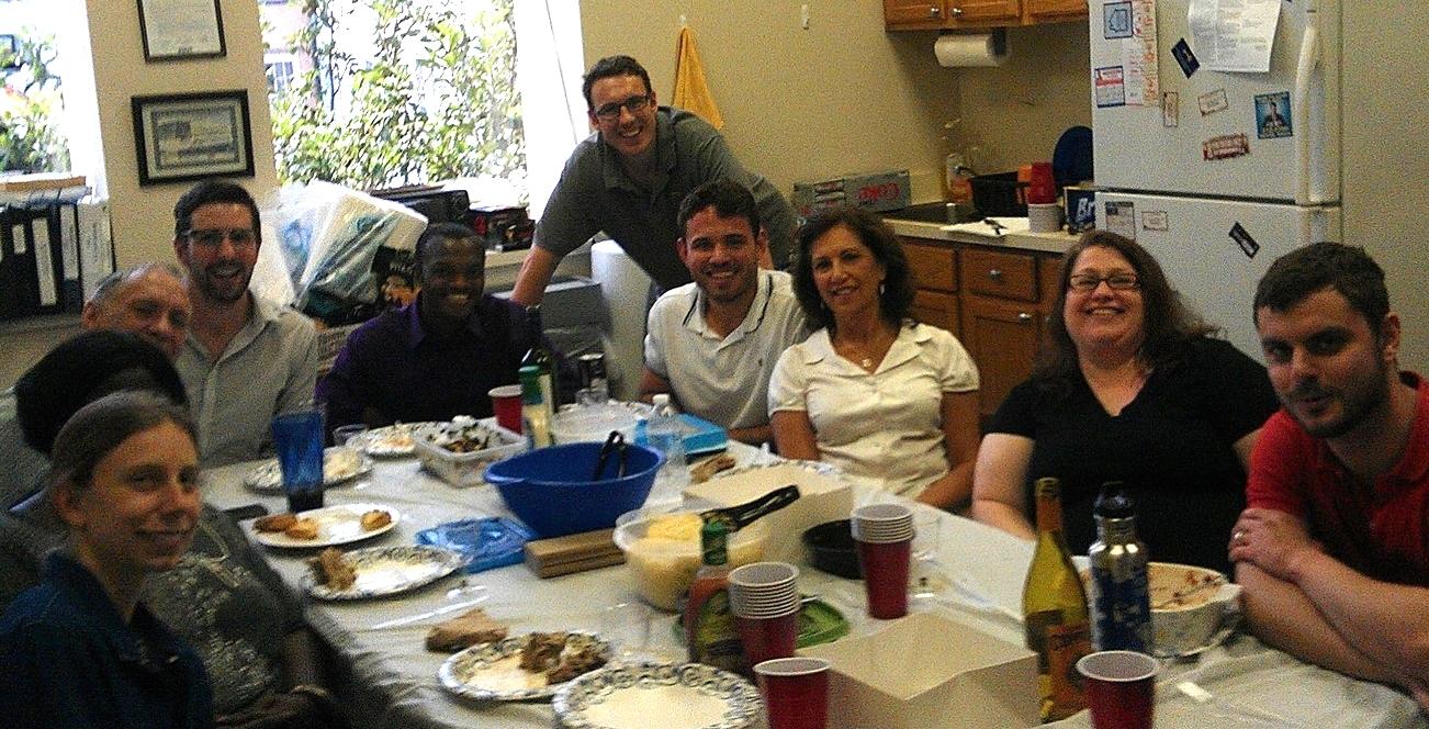 Last Day Potluck with Staff & Gillis Long Summer Interns