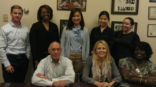 From l to r (back): Donald Graham, Jasmine Smith, Ramona Lin,Jane Lee, Halcyon Apy with (front) The Project's Linton Carney, Ona Sanders and Zakiya LaGrange