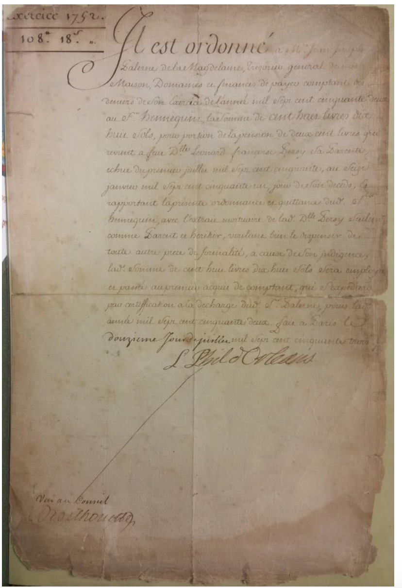 Royal Orléans House manuscript
