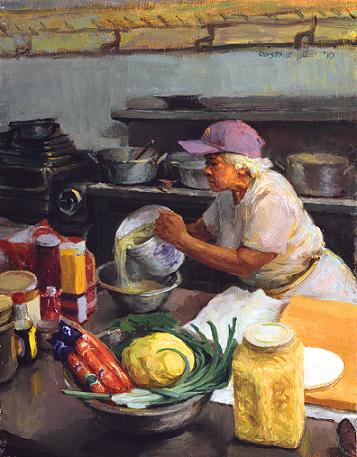 Pouring Oyster by Gustave Blache, III